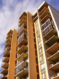 Apartment balcony perspective. Apartment perspective shot on autumn afternoon in edmonton royalty free stock photo