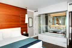 The apartment and bathroom in luxury hotel Royalty Free Stock Image