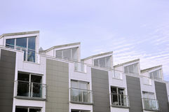 Apartment Block. Architectural Detail of a Modern Apartment Block Stock Photography