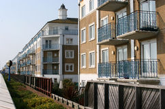 Apartment Block. New apartment buildings with balconies Royalty Free Stock Photos