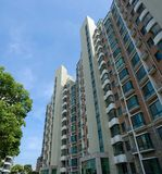 Apartment block. With blue sky Royalty Free Stock Images