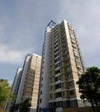 Apartment block. With blue sky Stock Photos