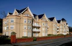 Apartment Block. Taken in Filey, North Yorkshire, UK Stock Image