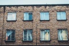 apartment block brick old Στοκ φωτογραφία με δικαίωμα ελεύθερης χρήσης