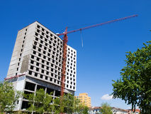 Apartment block construction Royalty Free Stock Photo
