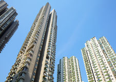 Apartment block in Hong Kong Royalty Free Stock Image