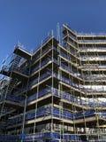Apartment block scaffolding Edinburgh Scotland UK royalty free stock images