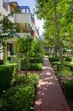 Apartment block, sunny, green, Sydney, Australia Stock Photo