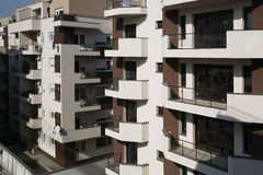 Apartment Blocks. Just built modern apartments block dream house Royalty Free Stock Photo