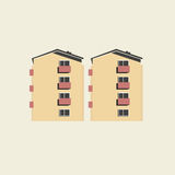 Apartment blocks concrete flats stock illustration