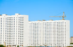 Apartment blocks construction Royalty Free Stock Images