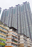 Apartment blocks in Hong Kong stock photo