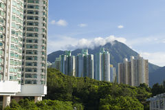 Apartment Blocks in Hong Kong Stock Images
