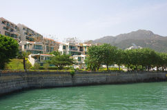 Apartment blocks in Lantau Island Royalty Free Stock Photography
