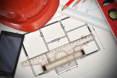 Apartment  blueprint Royalty Free Stock Photo