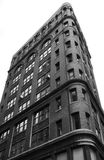 Apartment building. Close angle on high rise apartment building, black and white Stock Images