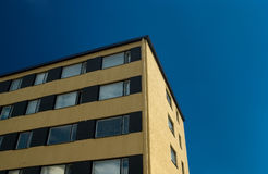 Apartment building. Yellow apartment building in kuopio finland Stock Images