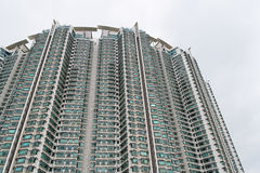 Apartment building. A big block of apartment building in Hong Kong stock photo