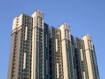 Apartment building. New china apartment under blue sky Stock Photo
