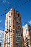 Apartment Building. Hi-rise apartment building on Moscow street Stock Photography