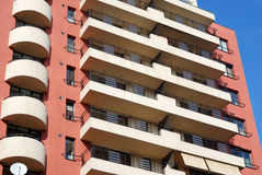 Apartment building. New apartment building in the city Royalty Free Stock Photo