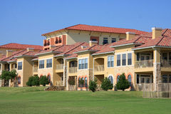 Apartment building. Beautiful apartment building on day royalty free stock photography