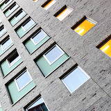 Apartment building. Wall of an apartment building Royalty Free Stock Photos