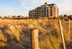 Apartment building. Near the beach of Scheveningen, the Netherlands Royalty Free Stock Images
