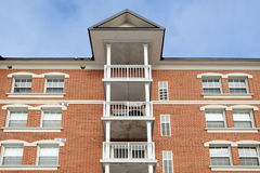 Apartment Building. Frontal view of apartment building stock photography