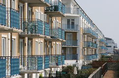Apartment building. Modern apartment building with balconies Stock Photo