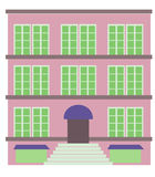 Apartment Building. Illustration of contemporary building royalty free illustration