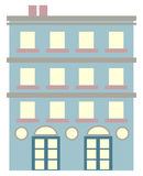 Apartment Building. Illustration of a generic apartment building royalty free illustration