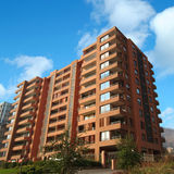 Apartment building. A brand new apartment building in santiago de chile Royalty Free Stock Photo