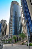 Apartment Building. A modern luxury apartment building with contemporary architecture stock images