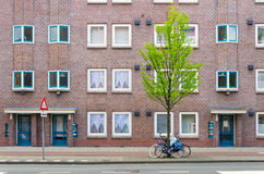 Apartment Building in Amsterdam Royalty Free Stock Images