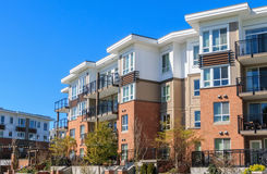 Apartment Building. Architectural details of modern apartment building Royalty Free Stock Photo
