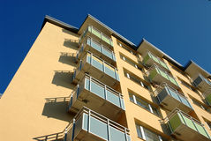 Apartment building balconies Royalty Free Stock Photos