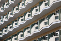 Apartment building with balconies. Stock Images