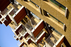 Apartment building with balconies, London, England Stock Images