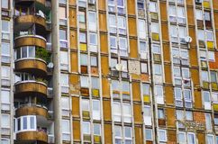 Apartment building block with bullet holes Royalty Free Stock Photos