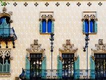 Apartment Building Block Exterior Facade In Barcelona Royalty Free Stock Photos