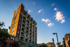 Apartment building in Boston, Massachusetts. Royalty Free Stock Images