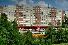 Apartment building , Budapest, Hungary Royalty Free Stock Images