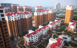 Apartment Building,China,Beijing Royalty Free Stock Photo