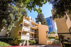 Apartment building close to downtown Sacramento royalty free stock photography