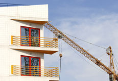 Apartment building construction royalty free stock images