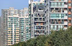 Apartment building, density of living, Chaoyang district, Beijing, China. Apartment building, density of living in Chaoyang district, Beijing, China royalty free stock photos