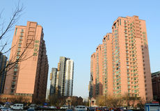 Apartment building. Apartment building  Tianjin China photoed on january 26th 2014 Stock Photo