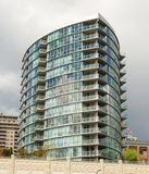An apartment building downtown vancouver stock image