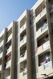 Apartment building Dubai. Apartment building with balconys in Bur Dubai. Dubai, UAE; United Arab Emirates Stock Photography
